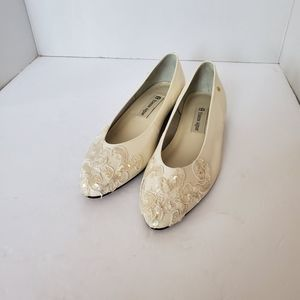 Etienne Aigner Arianna White Lace Wedding Shoes